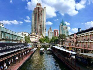 Bangkok water boats city
